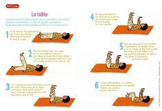 La table Routine yoga semaine (arrivée)