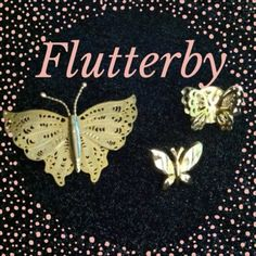 Butterfly Pin Bundle *gift included Costume Jewelry - Butterfly's are beautiful & the LUPUS symbol. A great gift for the nature lover in your life Or...your support if you live someone with Lupus! The smaller two are tac pins. *Stickpin is included FREE with purchase. Jewelry