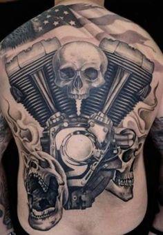 Old school vintage styled biker tattoos Tattoo-Inspirationen zum Thema Biker. Old School Vintage Stil Biker Tätowierungen Harley Tattoos, Harley Davidson Tattoos, Biker Tattoos, Motorcycle Tattoos, Harley Davidson Art, Tattoo Designs, Skull Tattoo Design, Hd Tattoos, Evil Tattoos