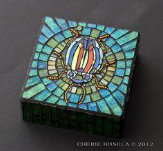 Mosaic Beetle Scarab - by Cherie Bosela - www.cheriebosela.com
