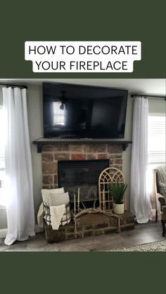 Country Farmhouse Decor, Farmhouse Chic, Fireplace Mantle, Seasonal Decor, Lifestyle, Diy, Home Decor, Decoration Home, Bricolage