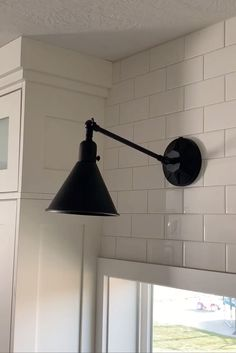 These Task Wall Lighting Have An Industrial Style That Is Both Modern And Utilitarian. This Versatile Design Of The Sconce Provides Stylish, Adjustable Wall Lighting As It Can Be Used With The Provided Cord And Plug Or Hardwired. Anchored By A Star Back Plate, This Smart And Stylish Matte Black Lamp Enhances Any Work Space. #kitchenlighting #modernfarmhouse #farmhousekitchen #kitchensconces #subwaytile #walllights #wallsconces #farmhousekitchen #modernfarmhousekitchen #subwaytilewall…