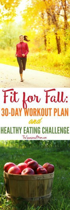 Fall is the perfect time to tackle a 30 Day Workout Plan and Healthy Eating Challenge to feel great, get in shape, and boost your confidence before the holidays