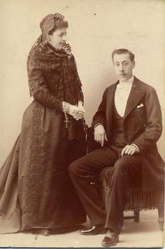 Alviach, Manuel: retrato de pareja, CDV 1886.  Hesperus´ Collection