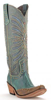 Yeeeeeha! Womens Liberty Black Vintage Turquieza Boots