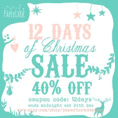 Christmas Sale, 12 Days of Christmas, photoshop templates, photography template and marketing for photographers. www.etsy.com/shop/paperlarkdesigns