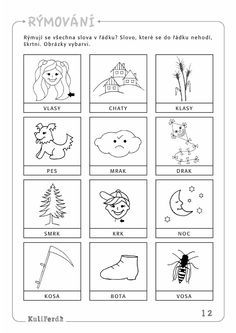 Ukazkove strany KuliFerda MS sluchove vnimani Sudoku, Kids Learning Activities, Free Coloring Pages, Kids Education, Preschool Crafts, Montessori, Worksheets, Literacy, Alphabet