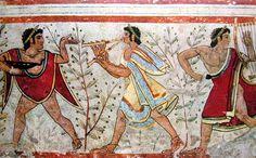 Etruscan tomb fresco