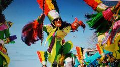 BOLIVIA - A very colorful costume to perform an Indian Toba dance at the Urkupina Festival in Cochabamba.