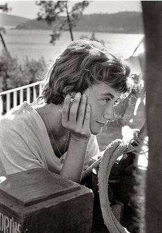 """© Claude Azoulay - """"Françoise Sagan - Sur le tournage de « Bonjour tristesse » """" - 1957"""