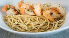 Grilled Prawn Pasta with Garlic Chili Oil