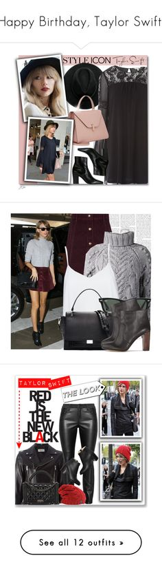 """Happy Birthday, Taylor Swift!"" by polyvore-editorial ❤ liked on Polyvore featuring taylorswift, happybirthday, Yves Saint Laurent, styleicon, Oasis, Barbara Bui, Alice + Olivia, Ray-Ban, Elizabeth and James and Ann Taylor"