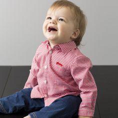 Wygodna bawełniana koszula dziecięca dla małych chłopców