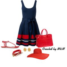 """""""Summer Dress and a Floppy Hat! 32"""" by marion-fashionista-diva-miller on Polyvore"""
