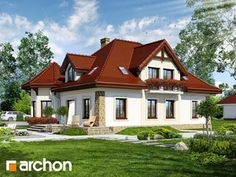 Projekt domu Dom pod juką 2 - ARCHON+ Modern House Design, House Floor Plans, Home Fashion, Flooring, Mansions, House Styles, Case, Home Decor, Modern
