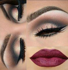 Abend Make up  #redlips#smokyeyes#makeup