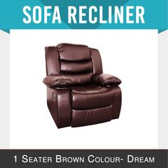 Recliner Leather Brown Ultra Cushioned Modern Multi Positions Smart Dream in Home & Garden, Furniture, Sofas & Couches Reclining Sofa, Recliner, Mattress, Positivity, Couch, Bed, Brown, Modern, Leather