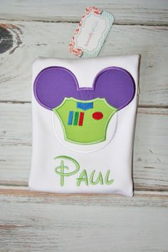 Hey, I found this really awesome Etsy listing at https://www.etsy.com/listing/174860570/personalized-buzz-lightyear-mouse-head-t