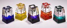 Obelisk Candlesticks: Joel and Candace Bless: Art Glass Candleholders - Artful Home