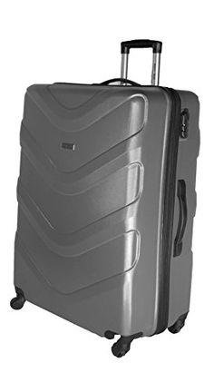 a97a0a8ec flymax carcasa rígida ligero equipaje maleta 4 ruedas Spinner ABS Gris gris  20