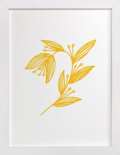 Doodle Arc Leaves by aticnomar at minted.com