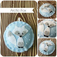 Arctic Fox Felt Christmas Ornament by TheTinyGarden on Etsy Arctic Decorations, Arctic Fox, Felt Christmas Ornaments, World Best Photos, Holiday Decor, Handmade Gifts, Diy, Crafts, Painting