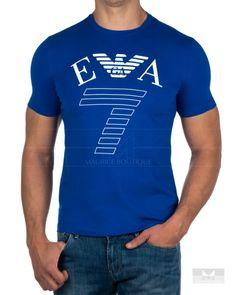 7edb1a428 Camisetas Emporio Armani EA7 - Azul Electrico Emporio Armani