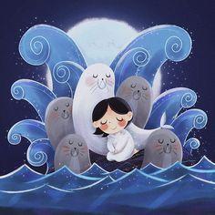 'Song of the Sea' Poster by susanmariel Illustration Mignonne, Children's Book Illustration, The Secret Of Kells, Framed Art Prints, Canvas Prints, Wall Prints, Song Of The Sea, Illustrators, Character Design