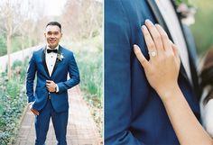 Blue and White Wedding Ideas - dashing royal blue groom