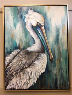 Pelican Art, Art Painting, Animal Art, Driftwood Art, Louisiana Art, Animal Paintings, Sea Life Art, Bird Art, Acrylic Painting Canvas