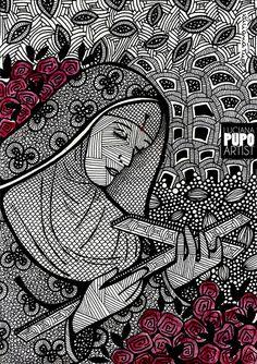 Santa Rita de Cássia por Luciana Pupo - IG @lucianapupoart