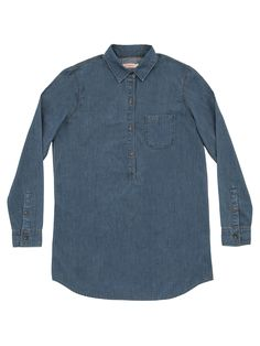 Classic blue denim shirt #SUN68 #SS16 #woman #shirt #college #denim