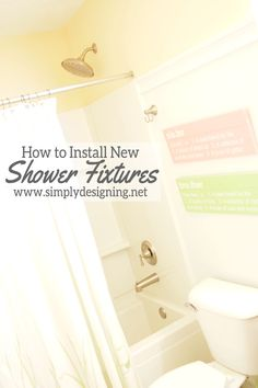 How to Install New Bathtub Faucet and Shower Head | #diy #shower #bathroom #remodel #homeimprovement
