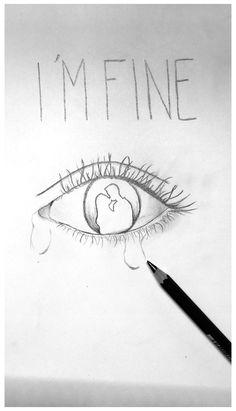 Easy Pencil Drawings, Easy Disney Drawings, Easy Doodles Drawings, Sad Drawings, Art Drawings Sketches, Drawing Faces, Simple Tumblr Drawings, Drawing Drawing, Tattoo Drawings