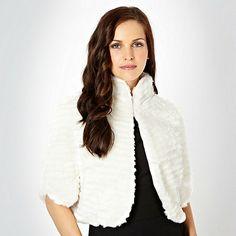 Star by Julien Macdonald Cream textured faux fur cape- at Debenhams.com £55