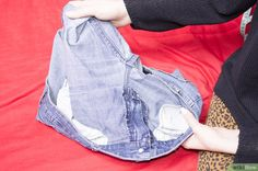 How to Make a Denim Skirt From Recycled Jeans: 8 Steps
