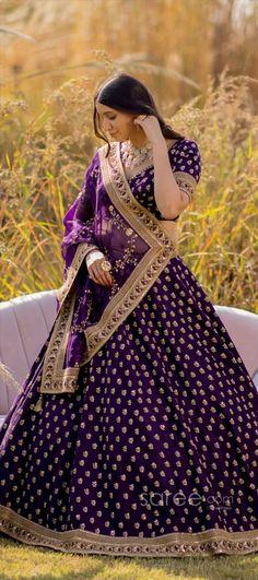 Lehenga Choli Online, Bridal Lehenga Choli, Saree, Raw Silk Lehenga, Indian Wedding Outfits, Designer Dresses, Girls Dresses, Women, Fashion