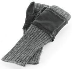 Cashmere And Leather Gloves - Fingerless Wool Gloves, Fashion Accessories, Clothing   Soft Surroundings
