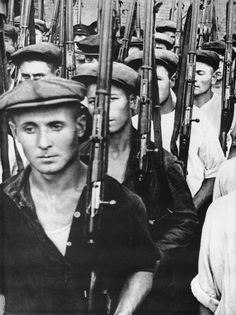 Soviet mobilization during WWII included worker militias. Many large factories organized such militias to battle on the front line in places like Stalingrad and Leningrad. With little training and only a rifle for weapon, they suffered as many casualties proportionally as the Red Army did.