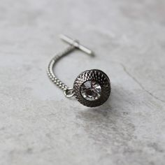 Tie Pin with Chain, Chained Tie Tack, Mens Tie Tacks with Anchor Chain, Mens Fashion Accessories, Gift for Man, Gift for Him, Mens Tie Pins by PetalPerceptions on Etsy https://www.etsy.com/listing/229460750/tie-pin-with-chain-chained-tie-tack-mens