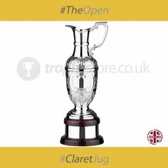 """The Open continues over the weekend as the players continue to battle it out, not only against each other but probably also the weather if forecasts are correct, for the illustrious Claret Jug.  All eyes are on Rory McIlroy who is the lead Brit in the competition currently on his second round.  Here is another of our own Claret Jug Trophies, the Silverplated St Anne's Claret Jug Golf Award 37.5cm (14.75"""")."""