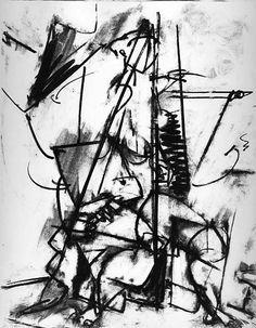 Lee Krasner - Untitled, 1940 Charcoal on paper