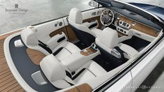 A view of the interior of the new Rolls-Royce Dawn.