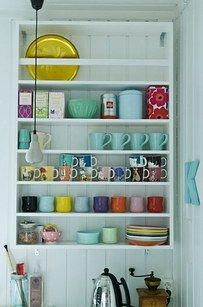 Open storage is another way of aesthetically displaying your stuff. | 21 Cheap And Easy Decorating Tricks For Renters