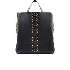 Zara Studded Shopper Bag ($40) ❤ liked on Polyvore