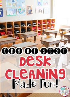 Fun way to get your students to clean the desks at the end of the year!