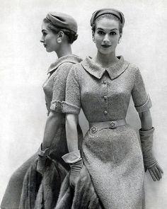 """The definition of """"zeitgeist"""" is """"the spirit of our times."""" Therefore, this 1950's dress would not appeal to today's zeitgeist because it is a conservative style compared to today's more """"risque"""" designs."""