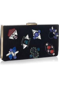 DVF jeweled Black clutch