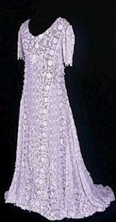 Irish Crochet wedding dress, from the UK Knitting and Crochet Guild's Collection