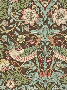 Morris & Co. Wallpaper   DIY   John Lewis & Partners Thistle Wallpaper, Lily Wallpaper, Kitchen Wallpaper, Purple Wallpaper, More Wallpaper, Wallpaper Online, Pattern Wallpaper, Plant Wallpaper, William Morris Wallpaper